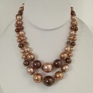 Vintage 2 Strand Bead Necklace